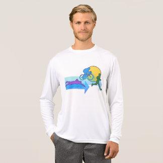 Camiseta Homens do sólido do Triathlon
