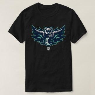 Camiseta Homens do T da liga do design da coruja de noite