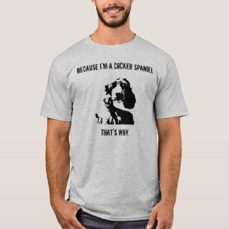 Camiseta Homens do t-shirt da atitude de cocker spaniel