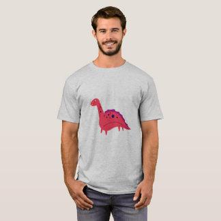 Camiseta Homens do Tshirt cinzentos com laranja de Dino