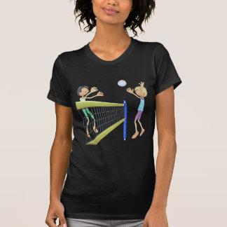 Camiseta Homens dos desenhos animados que jogam o voleibol