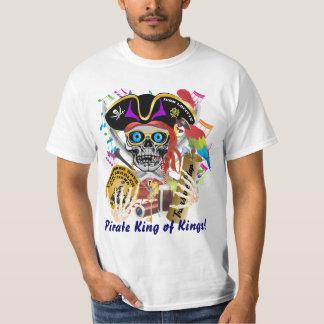 Camiseta Homens dos dias do contrabando do pirata toda a