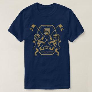 Camiseta Homens duplos superiores super do leão (marinho)