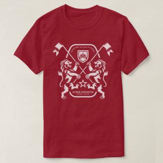 Camiseta Homens duplos superiores super do leão (marrom)