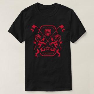 Camiseta Homens duplos superiores super do leão (preto)