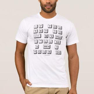 Camiseta Homens engraçados do teclado
