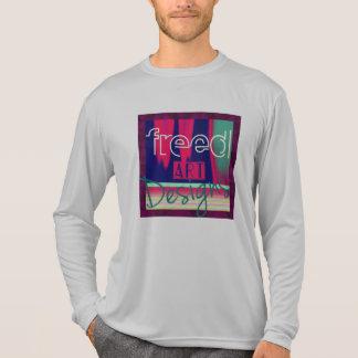 Camiseta Homens livrados da forma alta da Longo-luva de