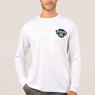 Camiseta Homens longos brancos frente e verso do t-shirt