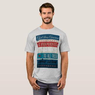 Camiseta Homens & mulheres do serviço de América dos deus