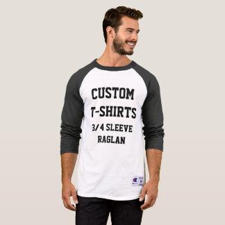 Camiseta Homens personalizados costume 3/4 de T-SHIRT do
