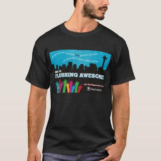 Camiseta Homens que nivelam o preto impressionante do