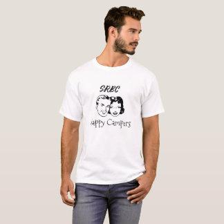 Camiseta Homens retros do t-shirt dos campistas felizes de