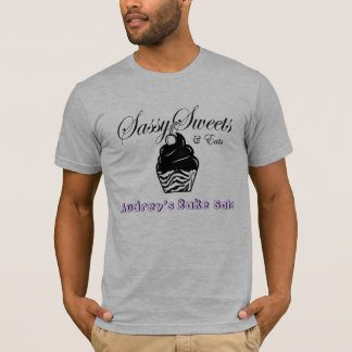 Camiseta Homens Sassy da venda do assar dos doces de Audrey