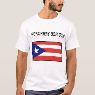 Camiseta Honorário Boricua-blanco