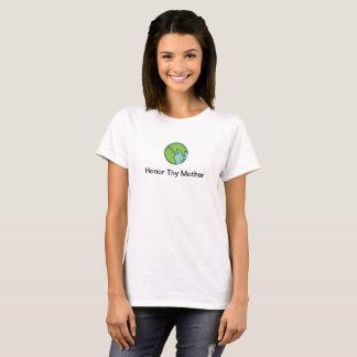 Camiseta Honre Thy t-shirt das mulheres da mãe