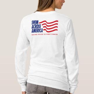 Camiseta Hoodie azul do lt de SAA - senhoras -