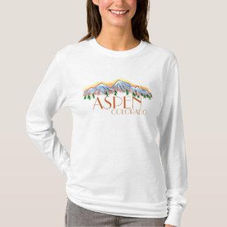 Camiseta Hoodie cénico da montanha das senhoras de Aspen