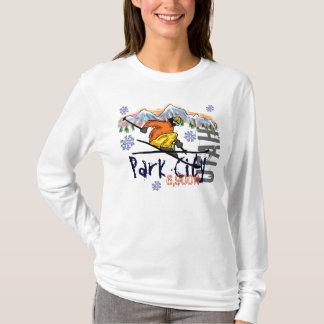Camiseta Hoodie da elevação do esqui das senhoras de Park