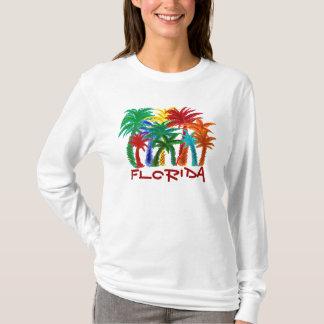 Camiseta Hoodie da palmeira das senhoras Florida