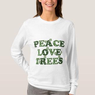 Camiseta Hoodie das árvores de amor da paz