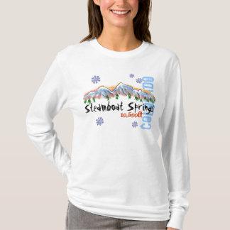 Camiseta Hoodie das senhoras da elevação de Steamboat