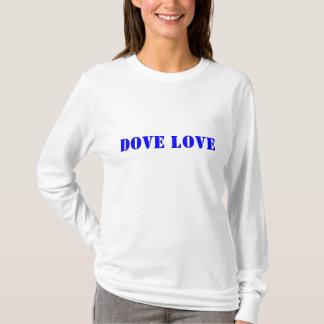Camiseta Hoodie do amor da pomba