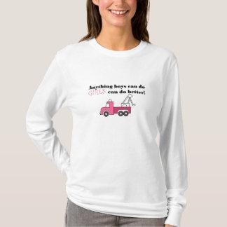 Camiseta Hoodie do caminhão de reboque das senhoras