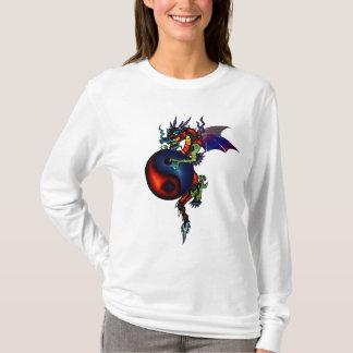 Camiseta Hoodie do dragão de Ying Yang