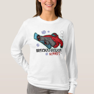 Camiseta Hoodie do snowboard da elevação de Breckenridge