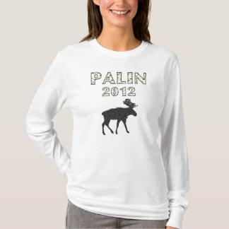 Camiseta Hoodie dos alces das mulheres de Sarah Palin 2012