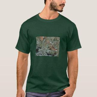 Camiseta Hoodie dos cones do pinheiro/pinho do inverno