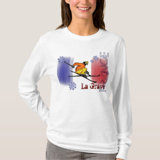 Camiseta Hoodie grave do esqui de France do La