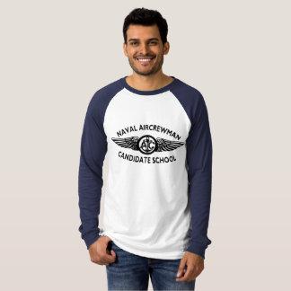 Camiseta Hoodie naval do candidato da tripulação aéreo.