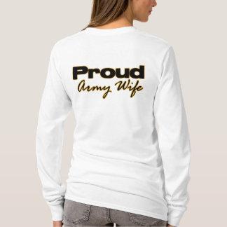 Camiseta Hoodie orgulhoso da esposa do exército