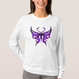 Camiseta Hoodie. roxo da borboleta