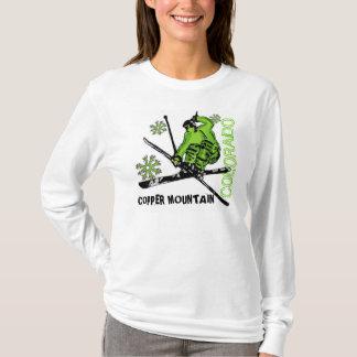 Camiseta Hoodie verde das senhoras do esquiador de Colorado