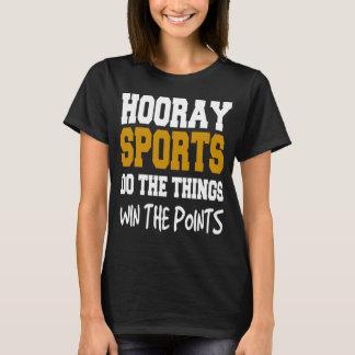 Camiseta Hooray o t-shirt básico das mulheres dos esportes
