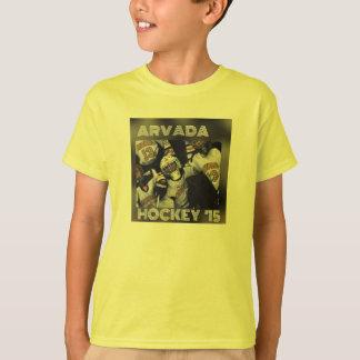 Camiseta Hóquei preto & amarelo '15 da juventude de Arvada