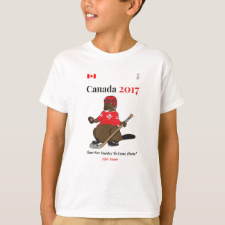 Camiseta Hóquei Stanley do castor de Canadá 150 em 2017