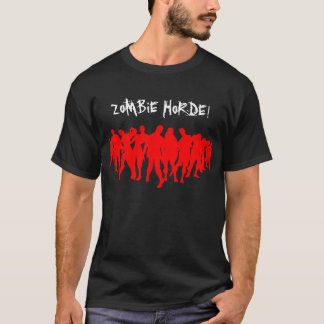 Camiseta HORDA DO ZOMBI! - vermelho