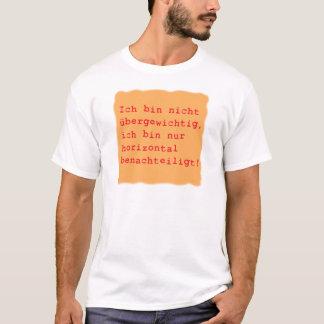 Camiseta horizontalmente desfavorecido