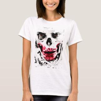 Camiseta Horror assustador do homem do zombi da cara do