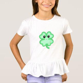Camiseta Hortelã engraçada bonito do verde do trevo da