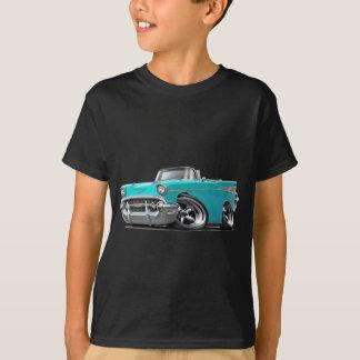 Camiseta Hot rod 1957 do Convertible de turquesa de Chevy