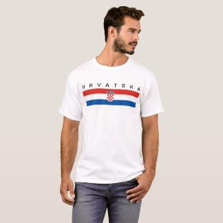 Camiseta Hrvatska longo do símbolo da bandeira de país de