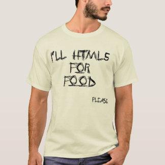 Camiseta HTML5 para a comida