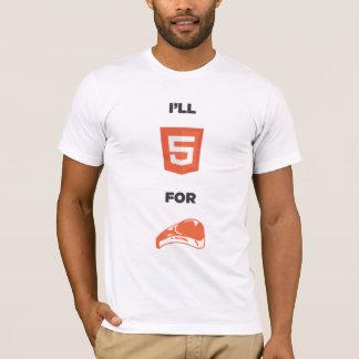 Camiseta HTML5 para a comida 2,0