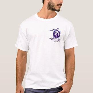 Camiseta humana da raça da jangada da sociedade de