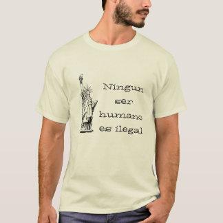 Camiseta Humano es do ser de Ningun ilegal
