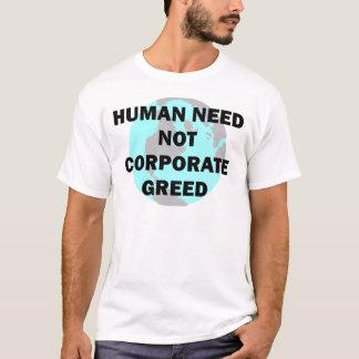 Camiseta Humano não precise a avidez incorporada